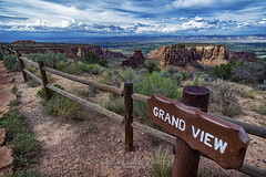 Approaching the Grand View, 2015.07.14 (Aaron Glenn Campbell) Tags: coloradonationalmonument glenwoodcanyon mesacounty colorado canyon outdoors roadtrip vacation rental car vehicle toyotacamry summer sky clouds landscape sony a6000 ilce6000 mirrorless rokinon 12mmf2ncscs wideangle primelens manualfocus emount nikcollection analogefexpro colorefexpro viveza