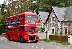 DSC_7568w RML2660 heads for Henfield and on to Horsham 27 August 2018 (Sou'wester) Tags: bus buses publictransport psv london londontransport lt lrt tfl aec prv routemaster parkroyal icon iconic classic vintage veteran preserved preservation adurvalley route3 horsham shoreham sussex rml2660 smk660f henfield