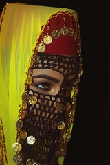 IMG_4129 (DesertWindsPhotography) Tags: arabic artwork bellydancer black coins cultural culture dancer desert egypt eyebrows gold hijab hijabi islam jewelry makeup muslim photography sunset traditional women yellow arabculture arabwomen art fishnetveil egyptianveil egyptian hazeleyes mediterranean morocco saharadesert tunisia