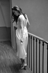 Apparition (kin182photo) Tags: apparition noir blanc robe blanche lumière naturelle natural light poésie barefoot bare feet piedsnus evanescence blackandwhite white dress black beautiful