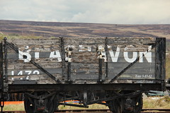 Blaenafon transport (tinamjones1948) Tags: blaenafon blaenavon southwales wales whs worldheritagesite heritage industry industrialheritage wagon coal wood sign unesco