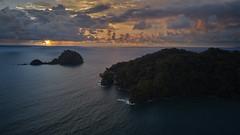 Morro mico island at sunset (pbertner) Tags: rainforest southamerica colombia pacificcoastal choco nuqui morromico drone landscape sunset
