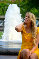 Kertu Fountain 5 (TheseusPhoto) Tags: model modeling faces people portrait portraiture woman female girl dress fashion beautiful pretty colors colorsoftheworld fountain