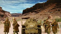Dietrich's Dusters (WesternOutlaw) Tags: afrikakorps dak afrikakorpsdiorama kingcountry kingandcountry toysoldiers 130 130scale 222 sdkfz222 armoredcar 222armoredcar ratpatrol rommel erwinrommel worldwarii