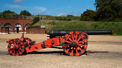 Fort Brockhurst Parade Ground Cannon (fstop186) Tags: cannon fortbrockhurst war military carriage horseartillery englishheritage parade ground army