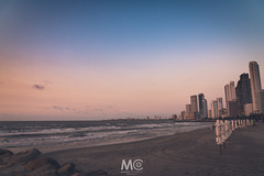 There will be a new day (Mariano Colombotto) Tags: bocagrande colombia travel beach sunset dusk ocaso sand playa sea mar water skyline city cityscape buildings nikon photographer photography sky colours tones summer ngc