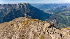 Summit cross (Silvan Bachmann) Tags: switzerland swiss suisse schweiz vorderglärnisch glarus klöntal mountains swissalps drone dji phantom photography photo nature landscape hiking hike view summit cross