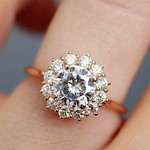 Engagement Rings Inspiration : 24 Unique Engagement Rings That Wow ❤️ unique engagement rings rose gold hal... thumbnail