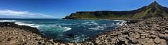 Giant's Causeway (abtabt) Tags: unitedkingdom uk northernireland sea ocean giantscauseway stone basaltcolumns worldheritage iphone6 pano