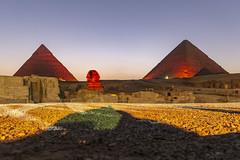 Pyramides show (Luca Ranghetti) Tags: pyramids giza egypt travel trip cairo summer hot pyramides nile nilo egyptian cheope chefren