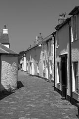 IMG_3988_edited-1 (Lofty1965) Tags: boscastle cornwall cobbles streat village white cottage blackandwhite