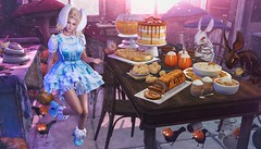 Falling for Desserts (clau.dagger) Tags: exia sanarae gothic lolita dress shoes disorderly thearcade deserts decor gacha evermore bunny ears weloveroleplay secondlife fashion style fantasy olive insol catwa maitreya drd cureless applefall raindale halfdeer lepoppycock