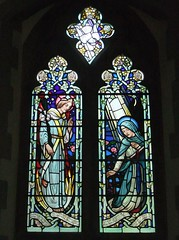 St. Mary's Church, Frensham, Surrey (Living in Dorset) Tags: stainedglasswindow churchwindow church window stmaryschurch frensham surrey england uk gb paulwoodroffe priscillaannpoulton priscillaannbaker henrybaker