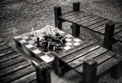 Gameover (Svendborgphoto) Tags: monochrome manualfocus wood bokeh bw blackandwhite blur nikkor nikkorais nikkorai nikondigital nikond800 d800 dof detail decay 50mm f12 50f12 fifty
