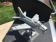 North American FJ-4B Fury (Brick Defense) Tags: legomilitary lego jet coldwar usn usnavy