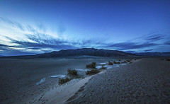 Dawn on the Dunes (CraDorPhoto) Tags: canon5dsr landscape dawn morning light mountains sand dunes clouds sky bluehour deathvalley california usa