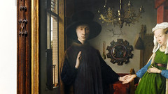 Jan Van Eyck, detail with male, The Arnolfini Portrait