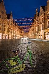 Prinzipalmarkt Münster (Blue Hour) (Rainer Albrecht) Tags: prinzipalmarkt münster blue hour rad bicycle leuchtspur