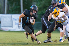 """PVHS v. Palatka-112 (mark.calvin33) Tags: football field sport ball """"high school"""" """"ponte vedra high pvhs block tackle rush run pass catch receiver blocker """"running quarterback fumble completion reception hike pitch snap """"friday night lights"""" fans stands kick """"end zone"""" """"nikon 2018 win athletics athletes """"night photography"""" """"sharks football"""" back d7100"""