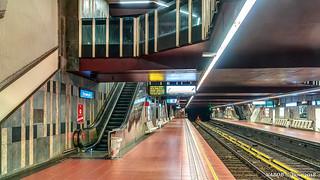 Brussels, Belgium: Veeweyde / Veeweide metro station (Line 5)