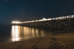 Malibu Pier (hitmanfre1) Tags: night nightphotography nighttime nightlife nightfall nightsky midnight beach pier ocean wave waves sea seascape malibu malibubeach blue orange sand long exposure longexposure losangeles la los angeles california cali southerncalifornia socal nikon d7200
