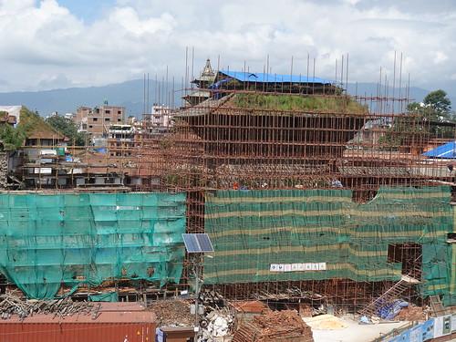 La place Durbar Square de Kathmandu a beaucoup souffert du séisme de 2015.