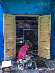 Shopping for Jewelry Blues (shapeshift) Tags: jodhpur rajasthan india in jewelry store storefront bluecity thebluecity bluecityjodhpur bluecityindia shapeshiftnet shapeshift shopping people woman streetphotography doors doorway iphone iphonex iphonexphoto iphonexphotography iphonephotography iphonephoto davidpham davidphamsf documentary storiesofindia indiastories