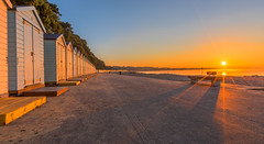 Empty Promenade (nicklucas2) Tags: seascape beach isleofwight solent sea sand seaside seagull lowtide avonbeach mudeford dorset sun sunrise mist