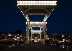 Skinny Bridge (NeilDonaldson) Tags: waters rivers wideangle night canals walks bridge skinny amsterdam