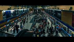 出站 (crazytony55) Tags: d90 nikon mrt mrtstation passengers passersby cleaner train waiting escalator taipei taiwan 台北 台北捷運 捷運站 國父紀念館站 出站 進站 列車 台灣