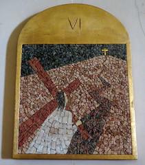 Stations of the Cross in church Saint-Ferdinand-des-Ternes in Paris 17th (Sokleine) Tags: interior indoor saintferdinand church église modern catholic religion culte paris 75017 heritage france frenchheritage