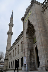 Blue Mosque Entrance And Minaret (itchypaws) Tags: 2018 istanbul turkey europe holiday vacation sultan ahmed ahmet mosque camii blue