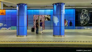 Brussels, Belgium: Heysel / Heizel metro station (Line 6); Artist, Jean François Octave installed two 98 meter long murals describing Heysel as an open book about the 20th century.
