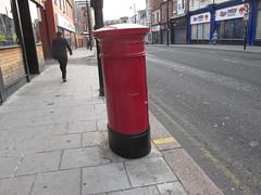 George 5th Pillar Box and Stamp Machine, Vine Place, Sunderland, SR1 18D (aecregent) Tags: sunderland 280818 george5thpillarboxandstampmachine vineplace sr118d pillarbox postbox gvr royalmail stampmachine