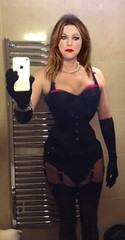 Under my dress (luappoll2) Tags: corset tight laced waist training cinched corseted stockings suspenders lingerie seamed fully fashioned vintage waisttraining tightlacing