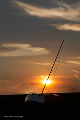 Boat at Sunset (Neil Adams Photography (Wirral)) Tags: sun sunset ship yatch boat sky evening glow