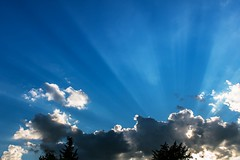 Rays at the sunset (Daniel Boca) Tags: light lights shadow shadows sunlight sunset sun clouds cloud cloudscape blue bluesky weather meteorology outdoor outside outdoors cumulus nature naturephotography naturepics naturephotograph