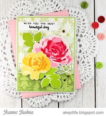 Beautiful Birthday (akeptlife) Tags: floralfantasy beautifulday altenew card cardmaking stamping stamp die border lace papercrafting creativeedges annagriffin