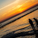 Zingst Beach Sunset, testing the water