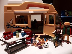Family Vacations (valeolligio) Tags: playmobil 2018 family vacations holiday summer day bike camper caravan camping ball teach mum dad children home sweet happyness beach 3945