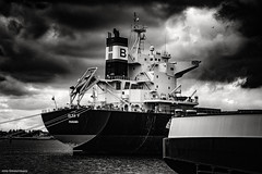 Waalhaven 2 (Rens Timmermans) Tags: canon5dmk3 tamronsp2470mmf28 rotterdam havens blackwhite niksilverefexpro nationalgeographic ngc