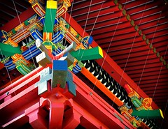 Elaborate (nikkorglass) Tags: tokyo japan nippon nezushrine colors colours färger temple nikon1j3 red röd