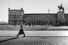 Passenger (I.Z.82) Tags: blackandwhitephotography streetphotography urbanscape lisboa architecture citylife lisbon portugal humanelement shadow moments praçadocomércio