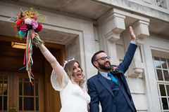 Gina and Toms Wedding (photoart33) Tags: bouquet flowers bright wedding hackney fun happy love