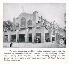 Exposition Hall, Wheeling Island Fairgrounds, circa early 1930s (Ohio County Public Library) Tags: fairgrounds wheeling wheelingisland statefair westvirginia westvirginiastatefair