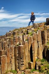 Giant's Causeway (abtabt) Tags: unitedkingdom uk northernireland sea ocean giantscauseway stone basaltcolumns worldheritage d70028300 girl
