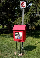 Little Free Library (haunted snowfort) Tags: littlefreelibrary library roadsidelibrary grimsby ontario canada niagara books novels reading reads littlelibrary