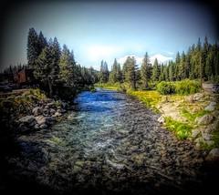 Truckee  River vig (joe Lach) Tags: joelach truckeeriver stream creek tahoecity truckee nevadacounty california digitalart laketahoe vignette