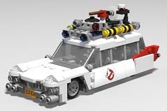 lego Ghostbusters Ecto-1 mod/moc (KaijuWorld) Tags: lego moc custom set mod ghostbusters ecto 80s cadillac ambulance ldd