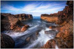 Worth the Soaking (Augmented Reality Images (Getty Contributor)) Tags: nisifilters benro bluesky canon cliffs clouds coastline findochty horizon landscape longexposure morayshire rocks scotland seascape summer water waves